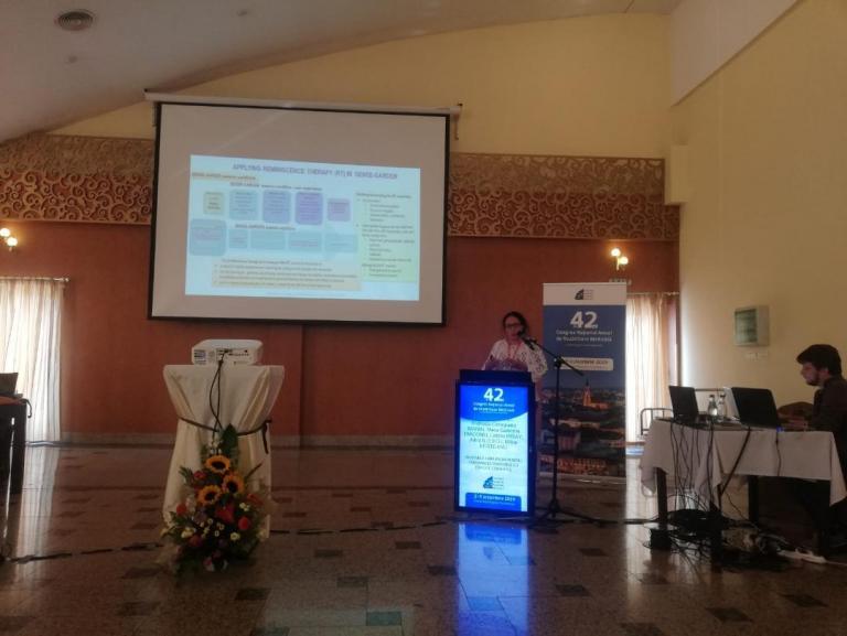 Ileana presenting SENSE GARDEN